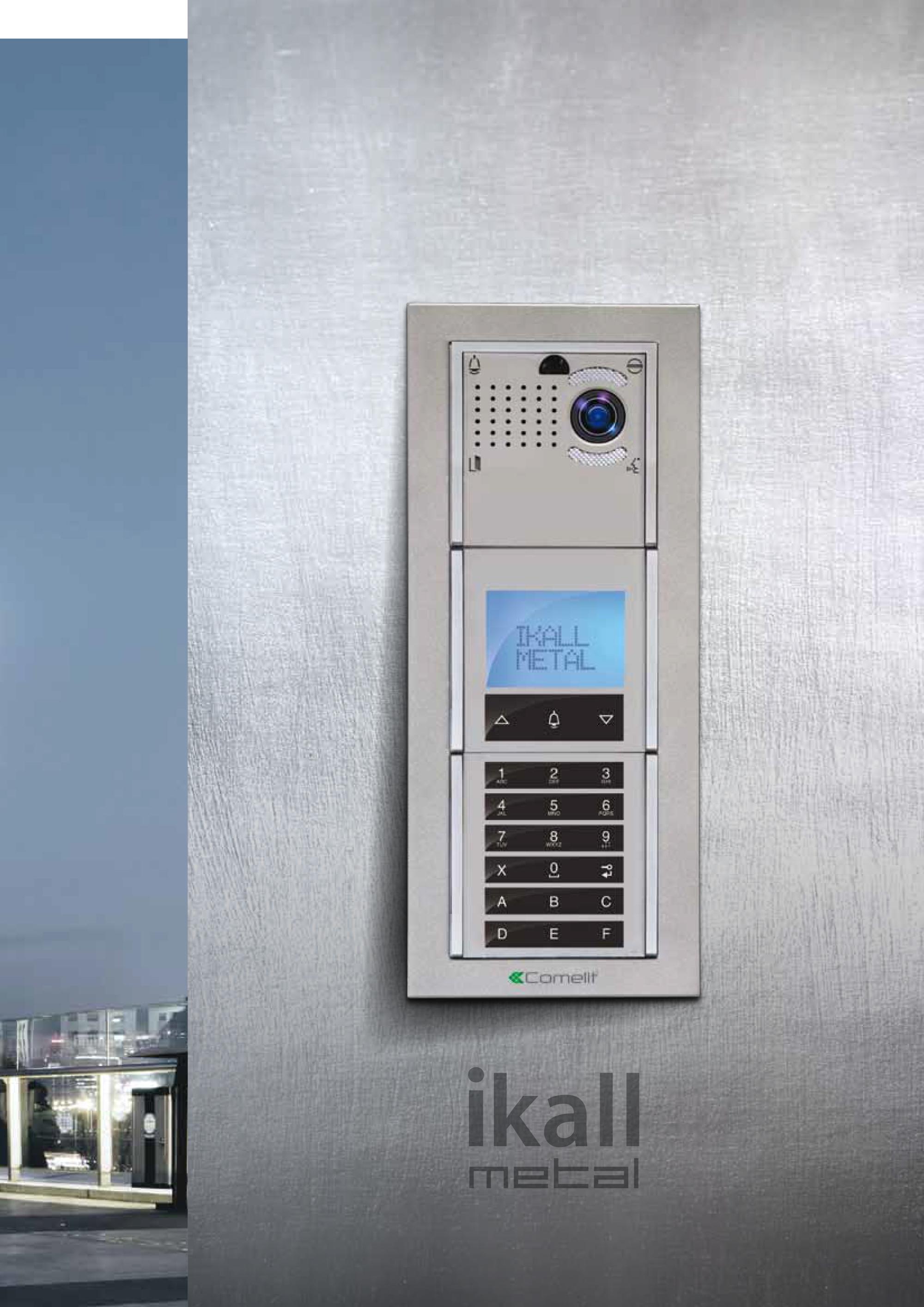 Comelit Ikall Metal on Door Access Control Wiring Diagram