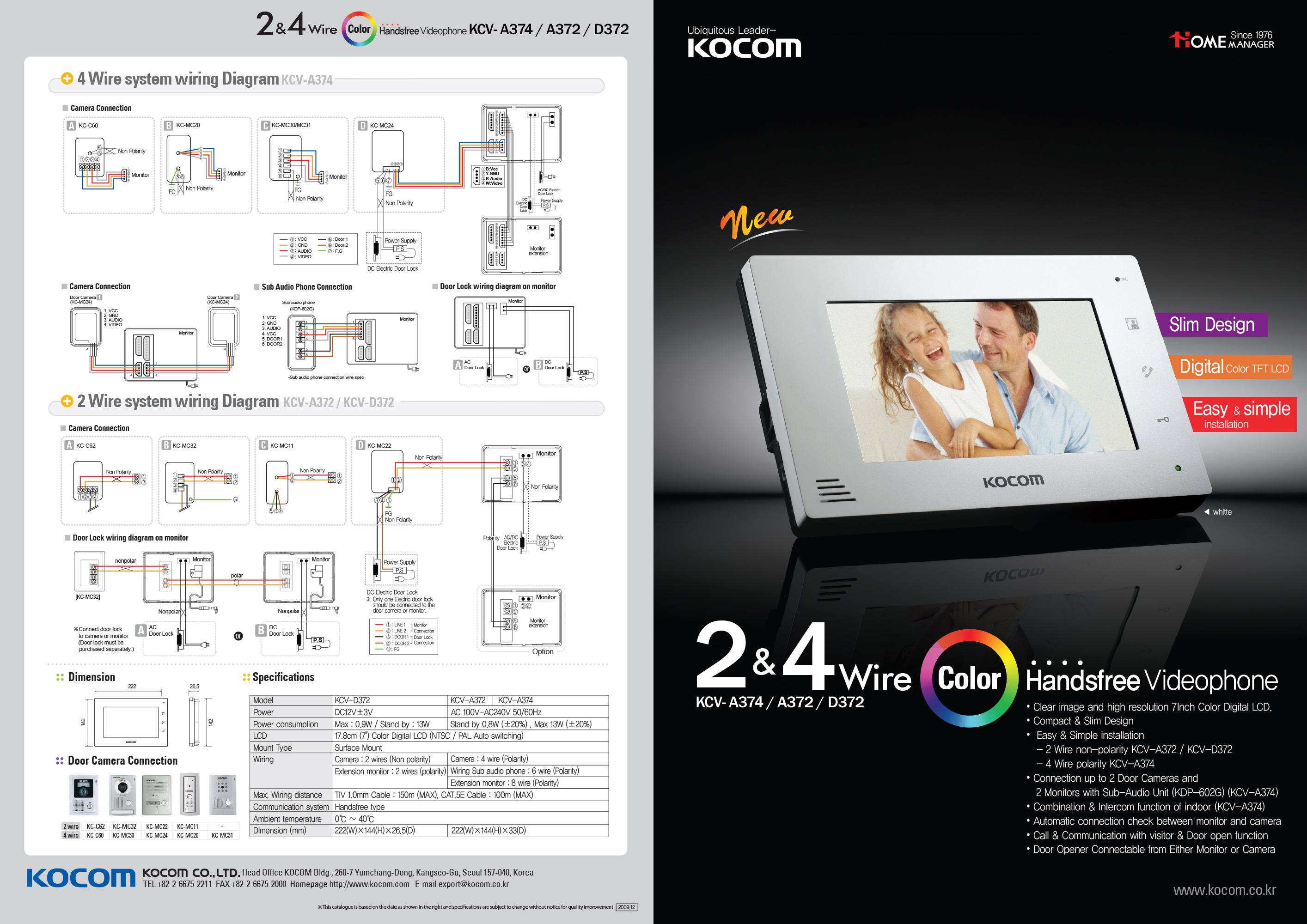 Wiring Diagram For Kocom Intercom : Kocom intercom wiring diagram m s mc